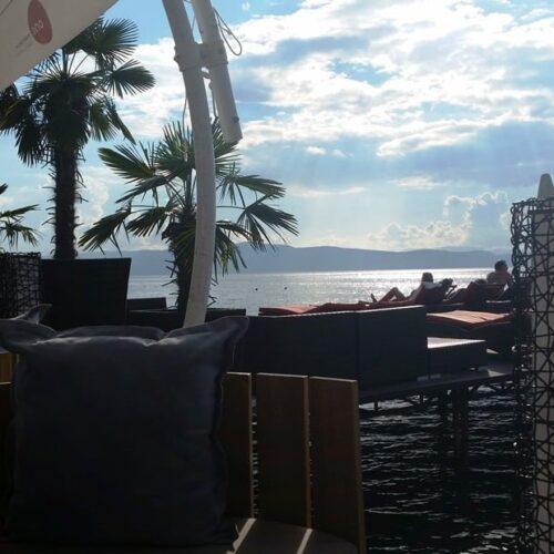 Airzone Gleitschirmreise Mazedonien Ohrid Beach bar