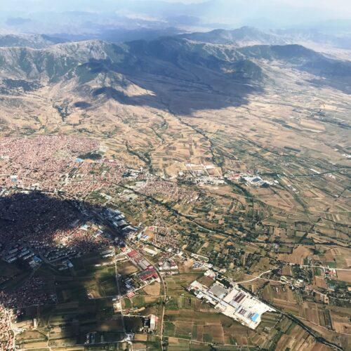 Airzone Gleitschirmreise Mazedonien Krusevo Vogelperspektive