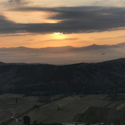 Airzone Gleitschirmreise Mazedonien Krusevo Sonnenuntergang