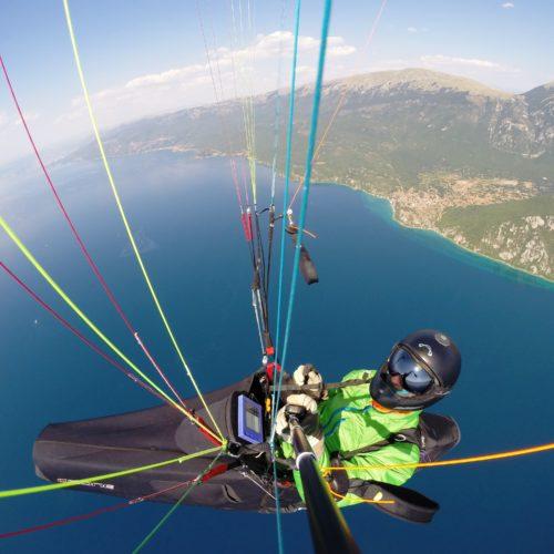 Airzone Gleitschirmreise Mazedonien Selfie über Ohridsee
