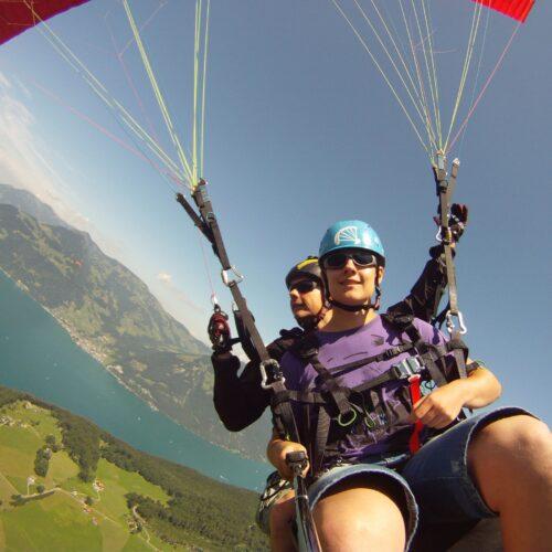 Airzone Tandemflug Selfie über See