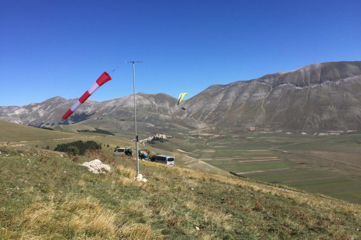 Gleitschirmreise Castelluccio Windsack