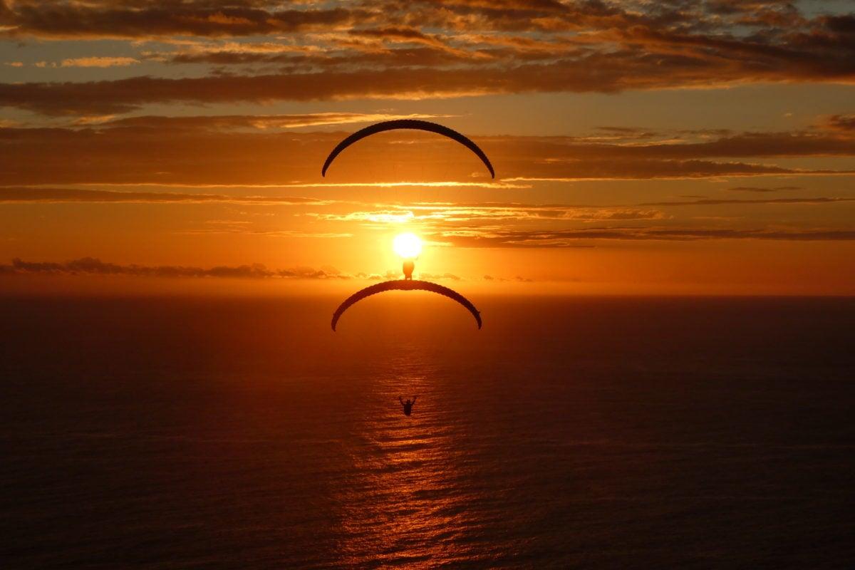 Gleitschirmreise La Reunion Wingwalk Sonnenuntergang
