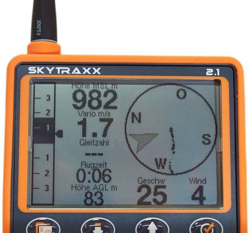 Skytraxx 2.1 Hauptdisplay